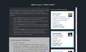 Twitter Ratio