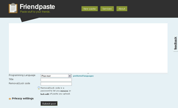 FriendPaste.com