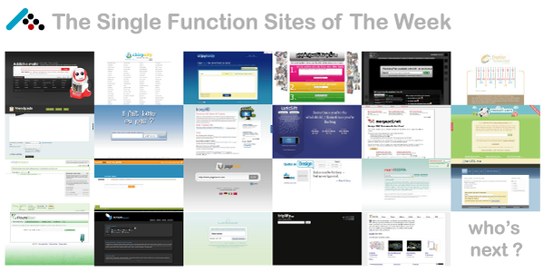 Single Function Sites of The Week - Part 1