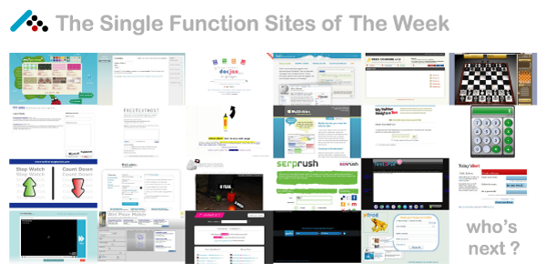 Single Function Sites of The Week - Part 2