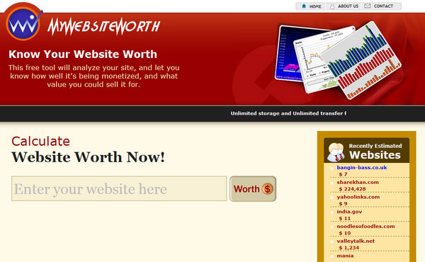 MyWebsiteWorth.com
