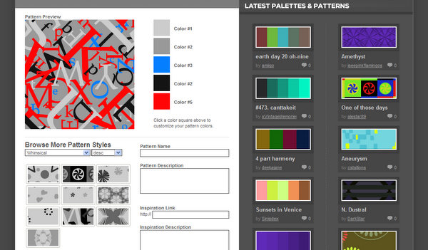 Patterns by ColourLovers.com