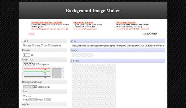 Background Image Maker by Rails2u.com