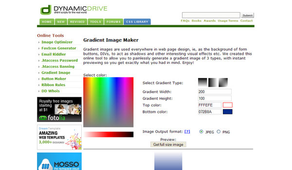 Gradient Image Maker by DynamicDrive.com