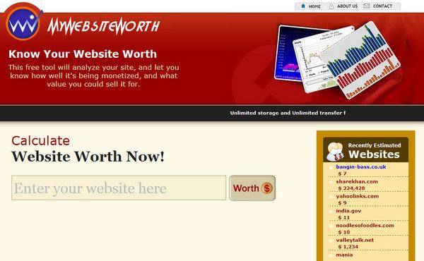 MyWebsiteWorth.com