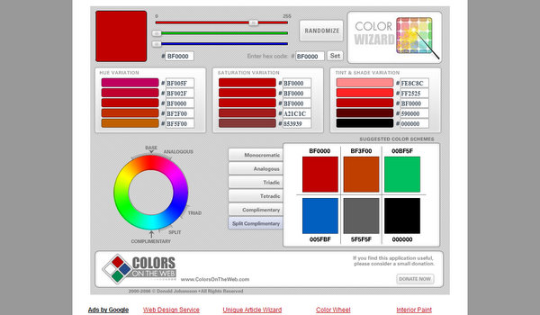 Color Wizard by ColorsOnTheWeb.com