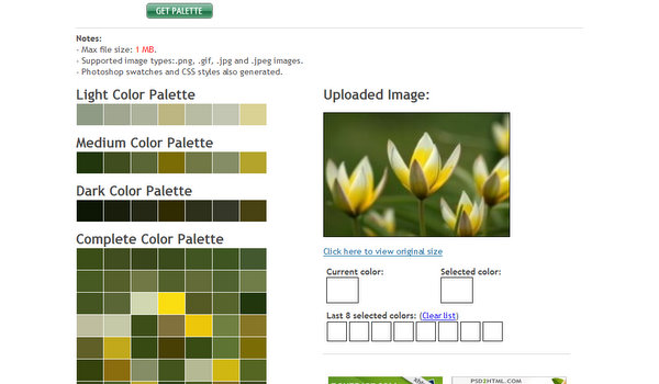 Colors Palette Generator by CSSdrive.com