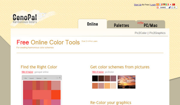 15 Hand Picked Color Palette And Color Scheme Generators Singlefunction