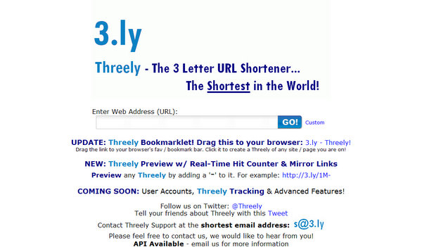 The Shortest URL Shorteners | SingleFunction