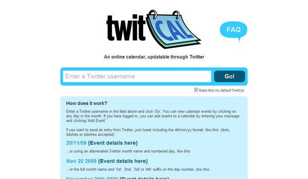 twitcal.com