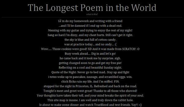 longestpoemintheworld.com