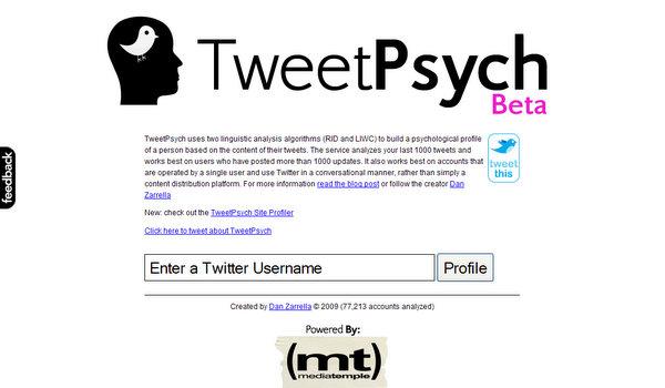 tweetpsych.com